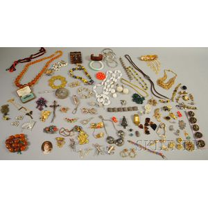 Large Lot of Mostly Costume Jewelry