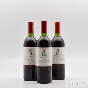 Chateau Latour 1982, 3 bottles