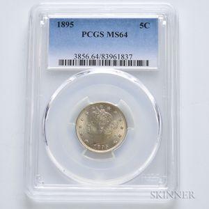 1895 Liberty Head Nickel, PCGS MS64.     Estimate $200-300