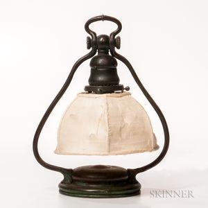 Tiffany Studios Bronze Harp Table Lamp