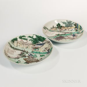 Pair of Famille Verte Chargers