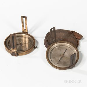 Two W. & L.E. Gurley Pocket Compasses