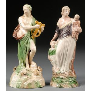 Two Staffordshire Pottery Figures