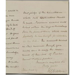 Historic Letters, Documents, Five Signed Items.