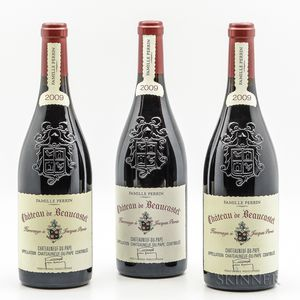 Beaucastel Chateauneuf de Pape Hommage a Jacques Perrin 2009, 3 bottles