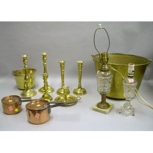 Group of Assorted Domestic Metal and Glass Items