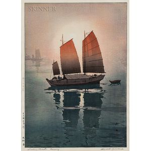 Hiroshi Yoshida (Japanese, 1876-1950)      Sailing Boats, Morning