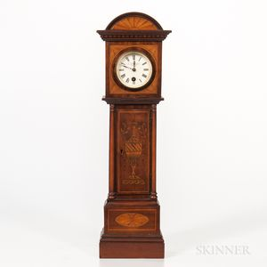 Miniature Inlaid English Long-case Clock