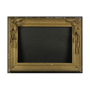 Continental School, 19th Century  Elaborate Frame with a Fern, Wheat, and Cattail Motif