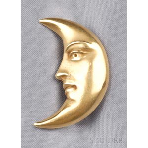 18kt Gold Man-in-the-Moon Brooch, Kieselstein-Cord