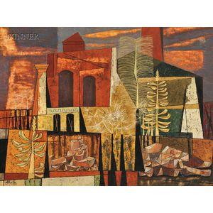 John Atherton (American, 1900-1952)      Ghost Town - New York