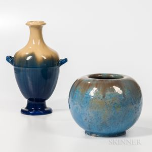 Two Fulper Pottery Arts and Crafts Vases