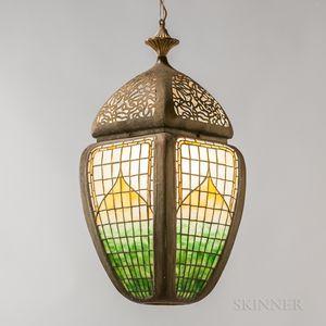 Leaded Glass Hanging Lantern