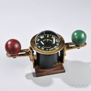 Small Compensating Compass from the 12-meter America