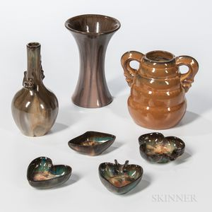 Seven Fulper Pottery Arts and Crafts Items