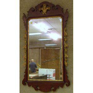 Nathan Margolis Shop Chippendale-style Partial-gilt Mahogany Mirror