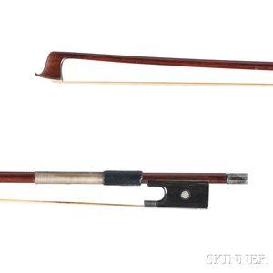 Silver-mounted Violin Bow, L. Bausch School, c. 1900