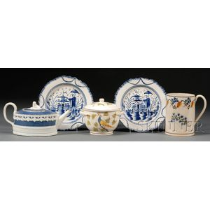 Five English Pearlware Table Items