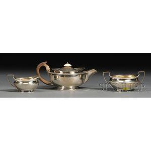 Three-piece George III Silver Tea Set