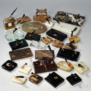 Large Group of Pen Accessories.     Estimate $50-100