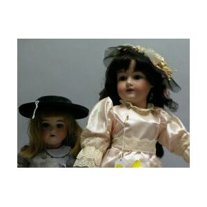 Two Armand Marseille Bisque Socket Head Dolls