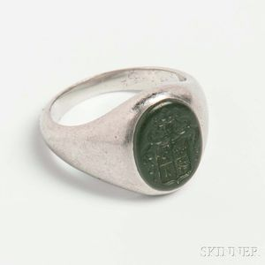 Tiffany & Co. Platinum Intaglio Ring