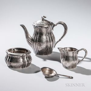 Three-piece Scandinavian .830 Silver Tea Service