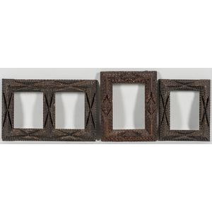 Three Small Tramp Art Frames