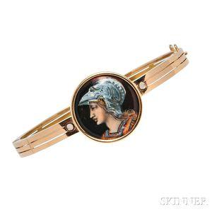 Antique 18kt Gold and Enamel Bracelet, Tiffany & Co.