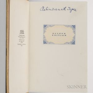 Tagore, Rabindranath (1861-1941) The King of the Dark Chamber  , Signed Copy.