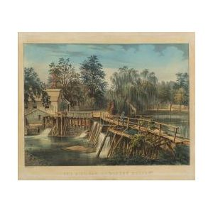 "Currier & Ives, publishers (American, 1857-1907)  THE MILL-DAM AT ""SLEEPY HOLLOW."""