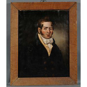 American School, 19th Century      Portrait of a New Bedford Man.
