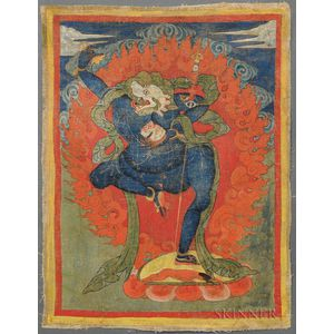 Thangka Depicting Simhamukha