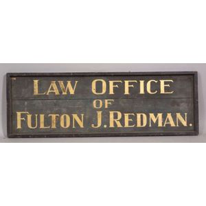 Painted Wooden Law Office Trade Sign