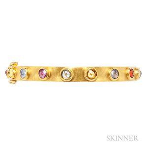 "22kt Gold Gem-set ""Elizabethan"" Bracelet, Stephanie Albertson"
