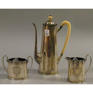 Tuttle Three-piece Sterling Silver Demitasse Serving Set