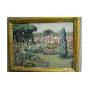 Framed Gouache A Newport Garden