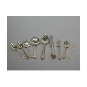 Approximately Ninety-two Piece Gorham Sterling Silver Clermont Flatware Service.