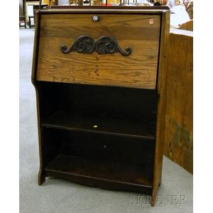 Late Victorian Oak Fall-front Writing Desk