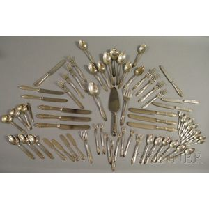Wallace Sterling Silver Gothic Revival Rheims Pattern Partial Flatware Service