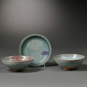 Three Jun Ware Vessels