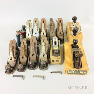 Twelve Stanley Woodworking Bench Planes
