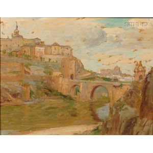 William Samuel Horton (American, 1865-1936)      Village Along the River