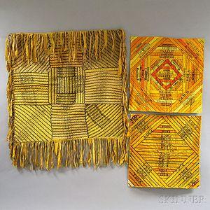 Silk Cigar Band Tablecloth and Two Mats
