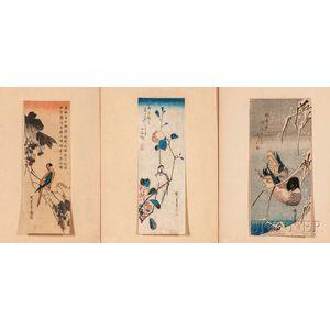 Three Hiroshige (1797-1858) Woodblock Prints