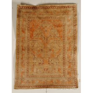 Silk Tabriz Prayer Rug