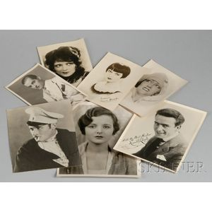 Collection of Late 1920s A-List Movie Star Publicity Photographs