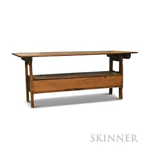 Pine and Maple Hutch Table