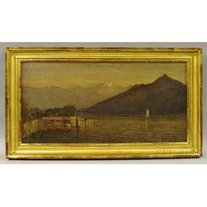 D. Jerome Elwell (Massachusetts/Italy, 1847-1912)       Morning, Lake Como.