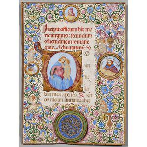 Illuminated Manuscript Leaf Attributed to Francesco di Lorenzo Roselli (1445-1513)